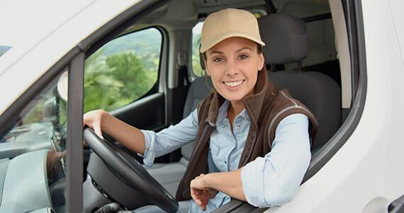 Driver in van