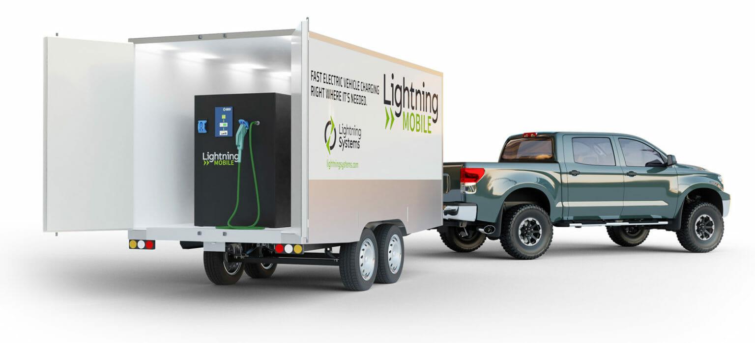 Lightning Mobile in a trailer