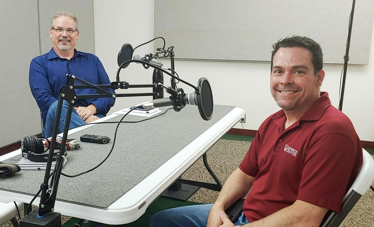 Our podcast studio